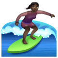 Woman Surfing: Dark Skin Tone on WhatsApp 2.19.352
