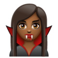 Woman Vampire: Medium-Dark Skin Tone on WhatsApp 2.19.352