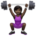 Woman Lifting Weights: Dark Skin Tone on WhatsApp 2.19.352