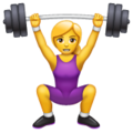 Woman Lifting Weights on WhatsApp 2.19.352