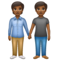 People Holding Hands: Medium-Dark Skin Tone on WhatsApp 2.20.198.15