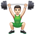Person Lifting Weights: Light Skin Tone on WhatsApp 2.20.198.15