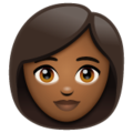 Woman: Medium-Dark Skin Tone on WhatsApp 2.20.198.15