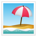 Beach with Umbrella on WhatsApp 2.20.206.24