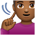 Deaf Man: Medium-Dark Skin Tone on WhatsApp 2.20.206.24