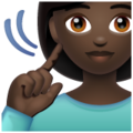 Deaf Woman: Dark Skin Tone on WhatsApp 2.20.206.24