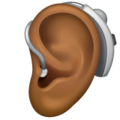 Ear with Hearing Aid: Medium-Dark Skin Tone on WhatsApp 2.20.206.24