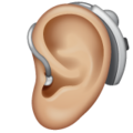 Ear with Hearing Aid: Medium-Light Skin Tone on WhatsApp 2.20.206.24