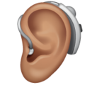 Ear with Hearing Aid: Medium Skin Tone on WhatsApp 2.20.206.24