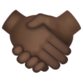 Handshake: Dark Skin Tone on WhatsApp 2.20.206.24