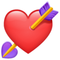 Heart with Arrow on WhatsApp 2.20.206.24