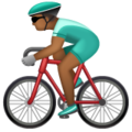 Man Biking: Medium-Dark Skin Tone on WhatsApp 2.20.206.24