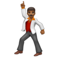 Man Dancing: Medium-Dark Skin Tone on WhatsApp 2.20.206.24