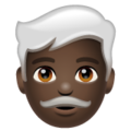Man: Dark Skin Tone, White Hair on WhatsApp 2.20.206.24