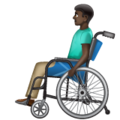 Man in Manual Wheelchair: Dark Skin Tone on WhatsApp 2.20.206.24