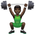 Man Lifting Weights: Dark Skin Tone on WhatsApp 2.20.206.24