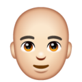 Man: Light Skin Tone, Bald on WhatsApp 2.20.206.24