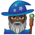 Man Mage: Dark Skin Tone on WhatsApp 2.20.206.24