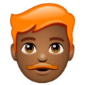Man: Medium-Dark Skin Tone, Red Hair on WhatsApp 2.20.206.24