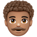 Man: Medium Skin Tone, Curly Hair on WhatsApp 2.20.206.24