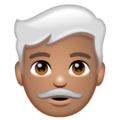 Man: Medium Skin Tone, White Hair on WhatsApp 2.20.206.24