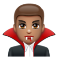 Man Vampire: Medium Skin Tone on WhatsApp 2.20.206.24