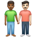 Men Holding Hands: Medium-Dark Skin Tone, Light Skin Tone on WhatsApp 2.20.206.24