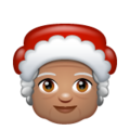 Mrs. Claus: Medium Skin Tone on WhatsApp 2.20.206.24
