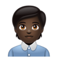 Office Worker: Dark Skin Tone on WhatsApp 2.20.206.24