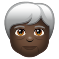 Older Person: Dark Skin Tone on WhatsApp 2.20.206.24