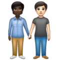 People Holding Hands: Dark Skin Tone, Light Skin Tone on WhatsApp 2.20.206.24