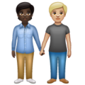 People Holding Hands: Dark Skin Tone, Medium-Light Skin Tone on WhatsApp 2.20.206.24