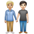 People Holding Hands: Medium-Light Skin Tone, Light Skin Tone on WhatsApp 2.20.206.24