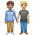 People Holding Hands: Medium Skin Tone, Medium-Light Skin Tone on WhatsApp 2.20.206.24