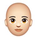 Person: Light Skin Tone, Bald on WhatsApp 2.20.206.24