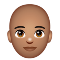 Person: Medium Skin Tone, Bald on WhatsApp 2.20.206.24