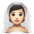Person With Veil: Light Skin Tone on WhatsApp 2.20.206.24