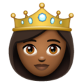 Princess: Medium-Dark Skin Tone on WhatsApp 2.20.206.24