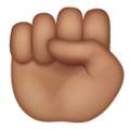 Raised Fist: Medium Skin Tone on WhatsApp 2.20.206.24