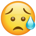Sad but Relieved Face on WhatsApp 2.20.206.24