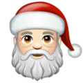 Santa Claus: Light Skin Tone on WhatsApp 2.20.206.24