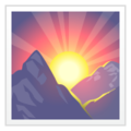 Sunrise Over Mountains on WhatsApp 2.20.206.24