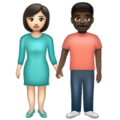Woman and Man Holding Hands: Light Skin Tone, Dark Skin Tone on WhatsApp 2.20.206.24
