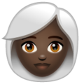 Woman: Dark Skin Tone, White Hair on WhatsApp 2.20.206.24