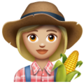 Woman Farmer: Medium-Light Skin Tone on WhatsApp 2.20.206.24
