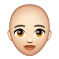 Woman: Light Skin Tone, Bald on WhatsApp 2.20.206.24