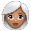 Woman: Medium Skin Tone, White Hair on WhatsApp 2.20.206.24