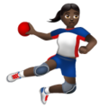 Woman Playing Handball: Dark Skin Tone on WhatsApp 2.20.206.24