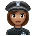 Woman Police Officer: Medium Skin Tone on WhatsApp 2.20.206.24