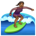 Woman Surfing: Medium-Dark Skin Tone on WhatsApp 2.20.206.24